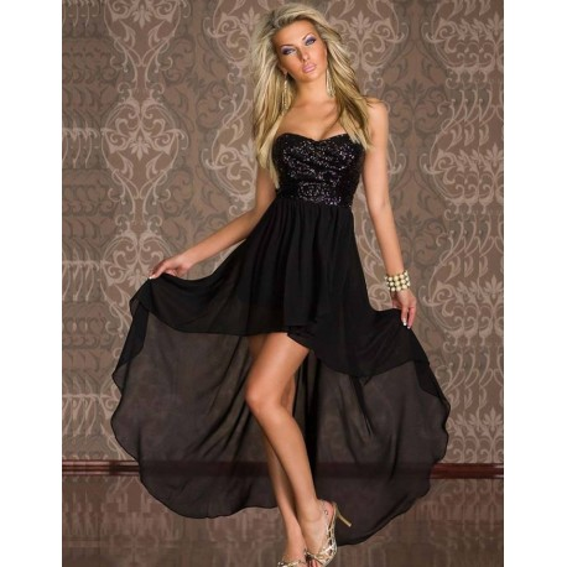 Crna haljina sa diskicima